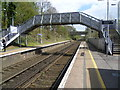 TQ6857 : The footbridge at West Malling for Kings Hill station by Ian Yarham