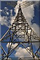 ST2344 : West Somerset : Electricity Pylon by Lewis Clarke