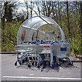 SP2965 : Trolley shelter, Tesco Warwick by Robin Stott