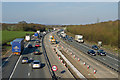 TQ4455 : M25 roadworks by Ian Capper