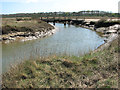 TF9644 : Footbridge in Stiffkey salt marshes by Evelyn Simak