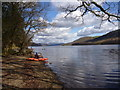 SD2991 : Put-in on Coniston Water for the Crake by Andy Waddington