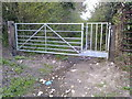 ST5864 : 'Bristol' combination gate on Bullimore Lane byway by James Ayres