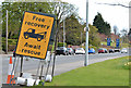 "J3683 : ""Free recovery"" sign, Jordanstown (2013) by Albert Bridge"