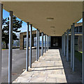 NZ1654 : Walkway, Mountsett Crematorium by Pauline Eccles