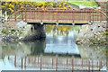 J3935 : Old railway and new footbridge, Dundrum by Albert Bridge