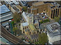 TQ3280 : Southwark Cathedral seen from the Shard by Shazz