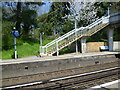 TQ6467 : Looking across to the footbridge at Meopham station by Ian Yarham