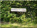 TM2474 : Marsh Farm sign by Adrian Cable