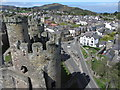 SH7877 : Conwy castle and town by Gareth James