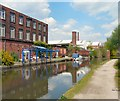 SJ9398 : Private moorings on the Ashton Canal by Gerald England