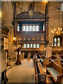SJ8476 : The Stanley Pew, St Mary's Church by David Dixon