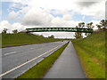 SJ8375 : Footbridge over Melrose Way (A34) by David Dixon
