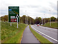 SJ8375 : Melrose Way (Alderley Edge Bypass) Approaching Nether Alderley Roundabout by David Dixon