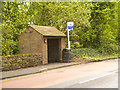 SJ8475 : Nether Alderley, Bus Stop on Congleton Road by David Dixon