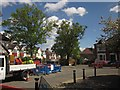 TQ3571 : Roadworks on Peak Hill, Sydenham by Derek Harper