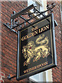 TQ7468 : The Golden Lion sign by Oast House Archive
