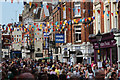TQ7468 : Crowds on High Street by Oast House Archive