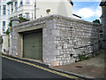 SX9473 : Wide garage in limestone, Glendaragh Road, Teignmouth by Robin Stott