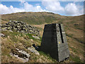 NY4906 : Survey pillar above Brock Crag, Stockdale by Karl and Ali