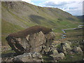 NY4707 : Big boulder at Settle Earth, Longsleddale by Karl and Ali