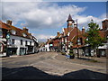 SU1414 : Fordingbridge: Market Place and Town Hall by Chris Downer