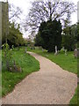 TM4088 : Path to All Saints Church by Adrian Cable