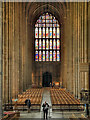 TR1557 : Canterbury Cathedral, Nave and West Window by David Dixon