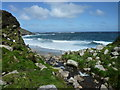 SW3835 : Portheras Cove on a breezy May morning by Maurice D Budden