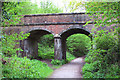 TQ4434 : Bridge over Forest Way path by Oast House Archive