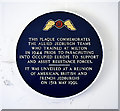 TL1499 : Plaque to commemorate the Allied Jedburgh Teams, Milton Hall, Peterborough by Julian Dowse
