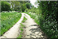 TM2990 : To Denton Road on Hogg Lane by Evelyn Simak