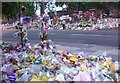 TQ4378 : Floral tributes in Artillery Place by Marathon