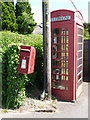 SU0203 : Holt: postbox № BH21 53 and phone box by Chris Downer