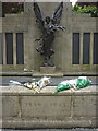 SD4761 : Tributes to Drummer Lee Rigby, Lancaster war Memorial by Karl and Ali