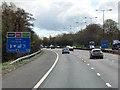 SJ7944 : Southbound M6 near Keele Services by David Dixon