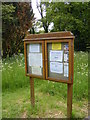 TM4584 : Sotterley Chapel Notice Board by Adrian Cable
