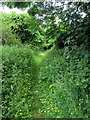 TL0834 : Footpath to Barton Road by Philip Jeffrey