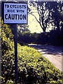 ST6724 : To Cyclists Ride with Caution sign by Richard Green