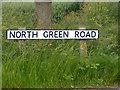 TM3075 : North Green Road sign : Week 26