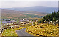 SD7891 : Approaching Garsdale station from the SW, 1995 by Ben Brooksbank