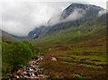 NN1573 : View up the Allt a' Mhuilinn towards Ben Nevis : Week 31