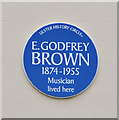 Photo of E. Godfrey Brown blue plaque