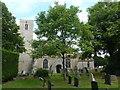TL1589 : Church and graveyard in Stilton by Richard Humphrey