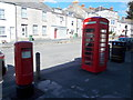 SY6971 : Portland: postbox № DT5 57 and phone, Straits by Chris Downer