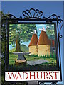 TQ6331 : Wadhurst Village Sign by David Anstiss