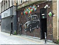 NS5865 : Mitchell Street public art (taxi) by Thomas Nugent
