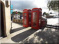 SH7877 : Conwy: phone boxes on Lancaster Square by Chris Downer