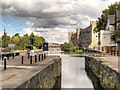SK7953 : River Trent, Town Lock and Newark Castle by David Dixon