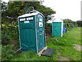 SW4837 : The facilities area, St Ives Campsite by David Medcalf